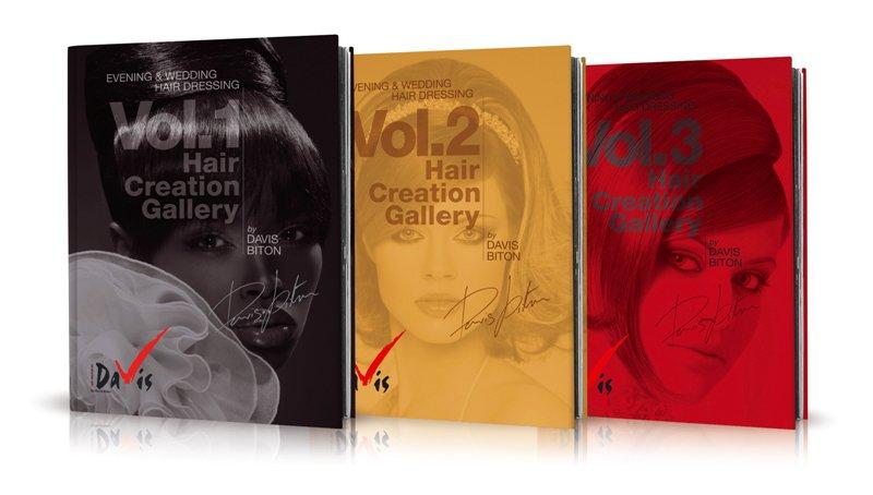 Hair Creation Gallery - by Davis Bitton . סדרת 3 ספרים מהודרים להשראה המציגים כל אחד 64 עמודים בהם תסרוקות מרהיבות במגוון סגנונות: מראות של רומנטיקה, אופנה, קלאסיקה ואוונגרד. סדרת הספרים הטובה ביותר לקבלת השראה יצירתית ורעיונות לתסרוקות כלה וערב